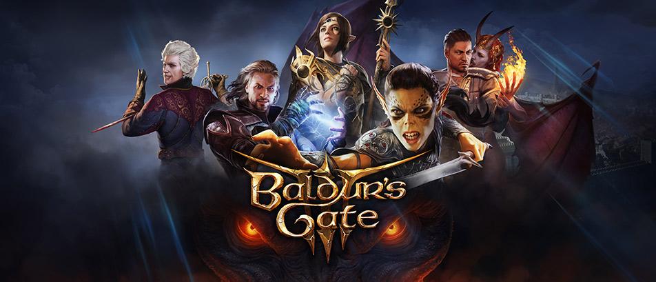 Baldur's Gate 3 - Coverbild mit Hauptcharakteren