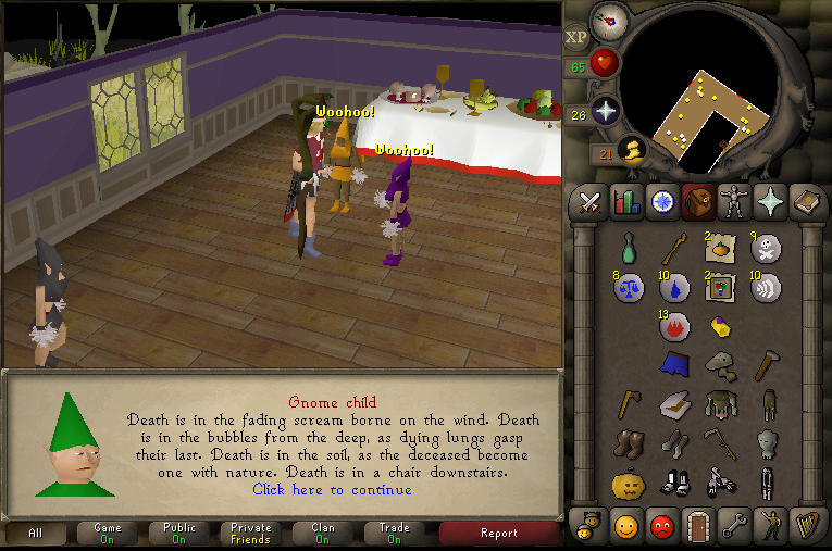Charmanter Dialog in RuneScape Old School