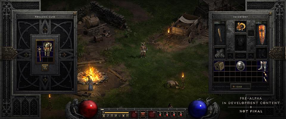 Das Inventar von Diablo II