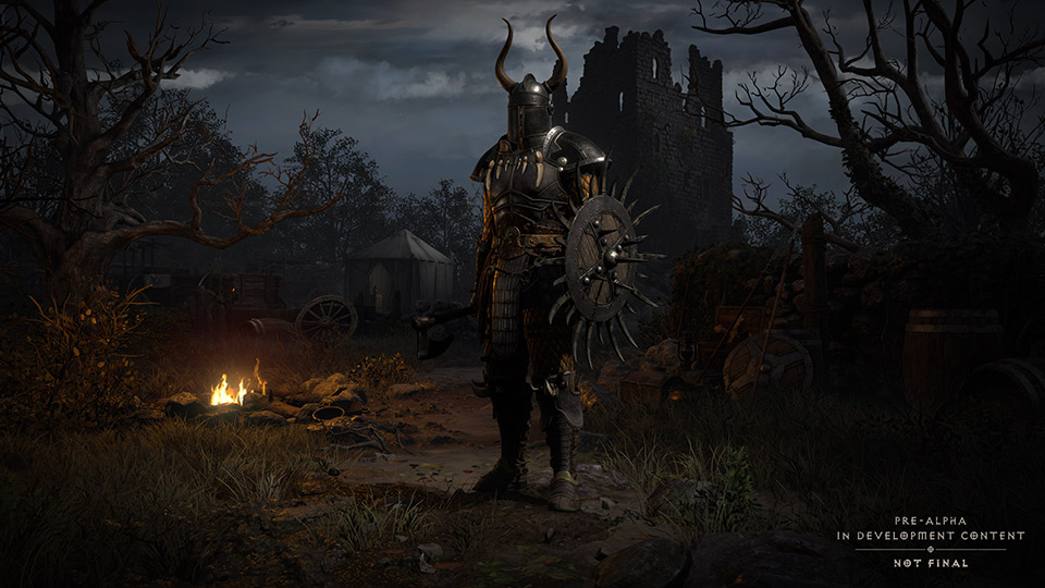 Das Charaktermenü von Diablo II