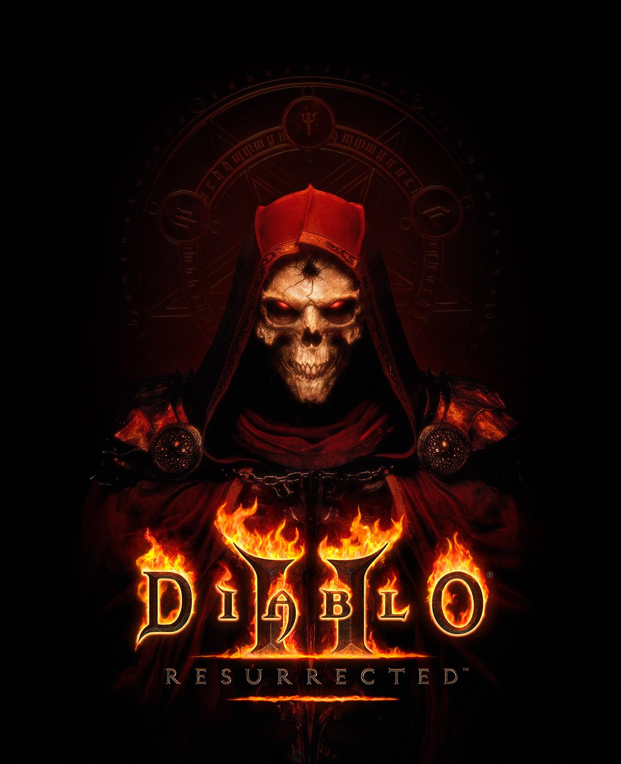 Diablo II Resurrected KeyArt mit Logo