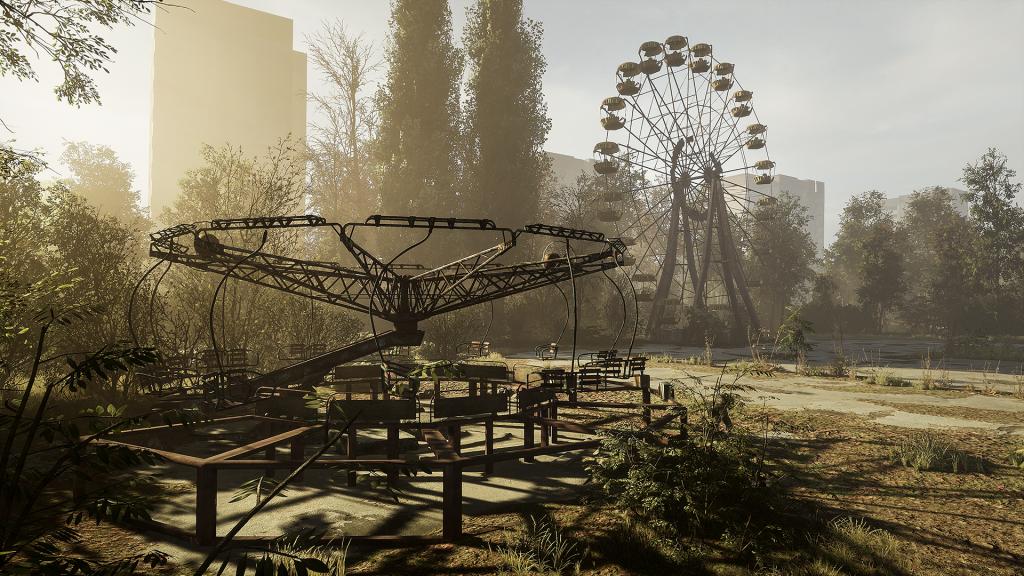 Das Zentrum von Prypjat in Chernobylite