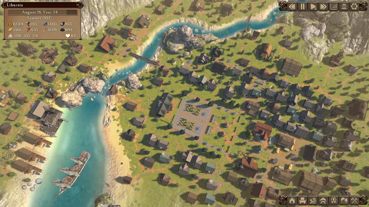 Eine Siedlung im Städtebausimulator Patron